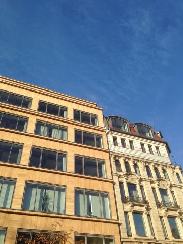 Blauer Himmel am Hausvogteiplatz