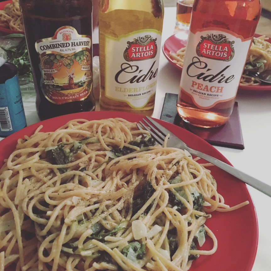 Pasta und Bier